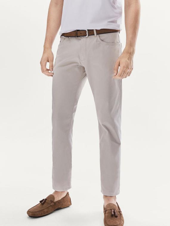 pantalon beige de massimo dutti