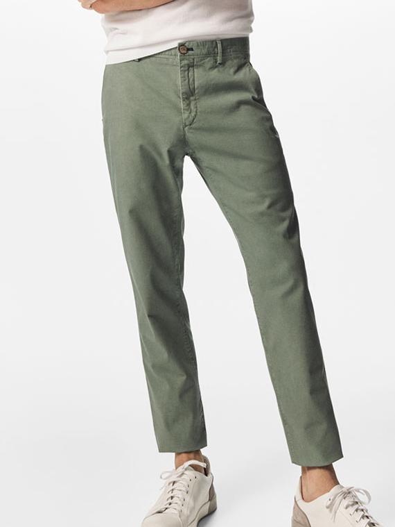 pantalon chino verde massimo dutti