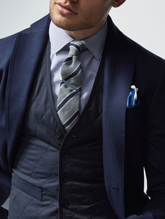 traje massimo dutti azul marino