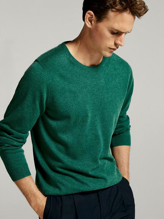 jersey verde de massimo dutti