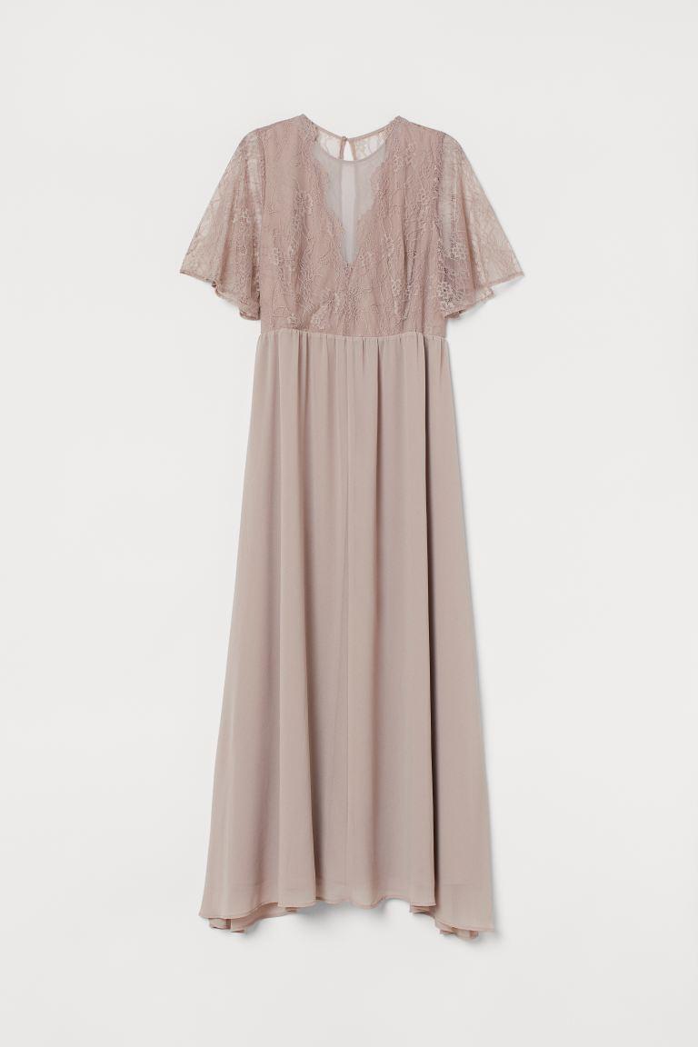 Vestido largo encaje H&M