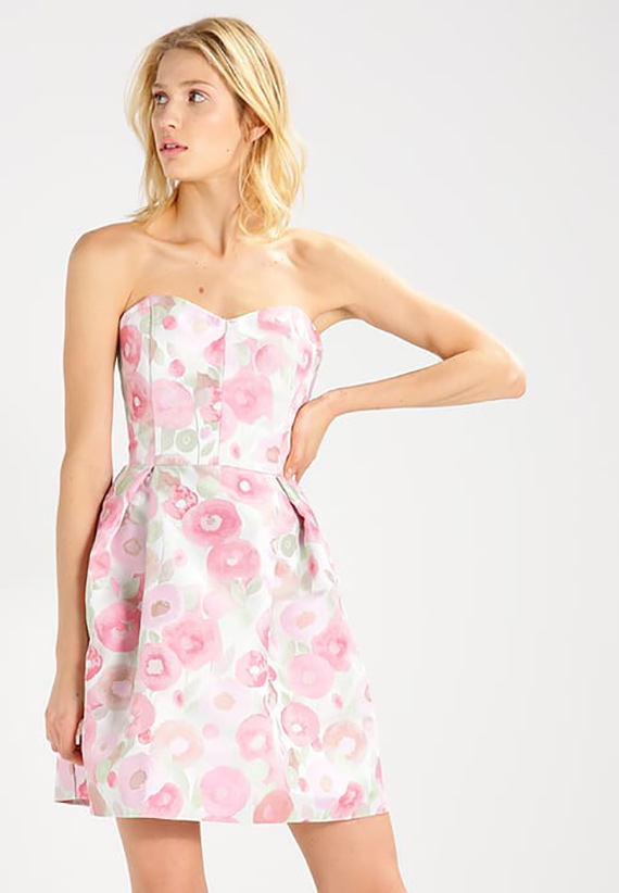 Vestido coctel Zalando, estampado floral
