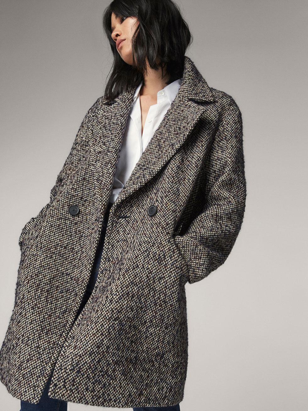 abrigo massimo dutti nueva coleccion