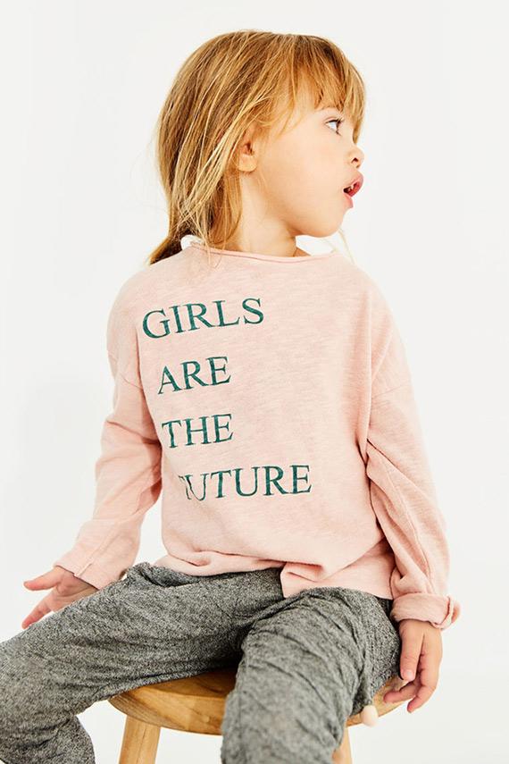 camiseta rosa Zara niña