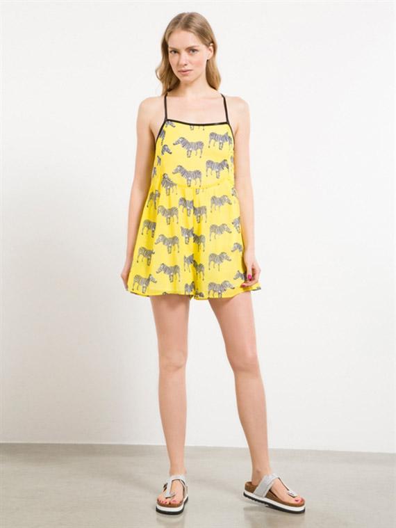 vestidos Fornarina casual camelie amarillo