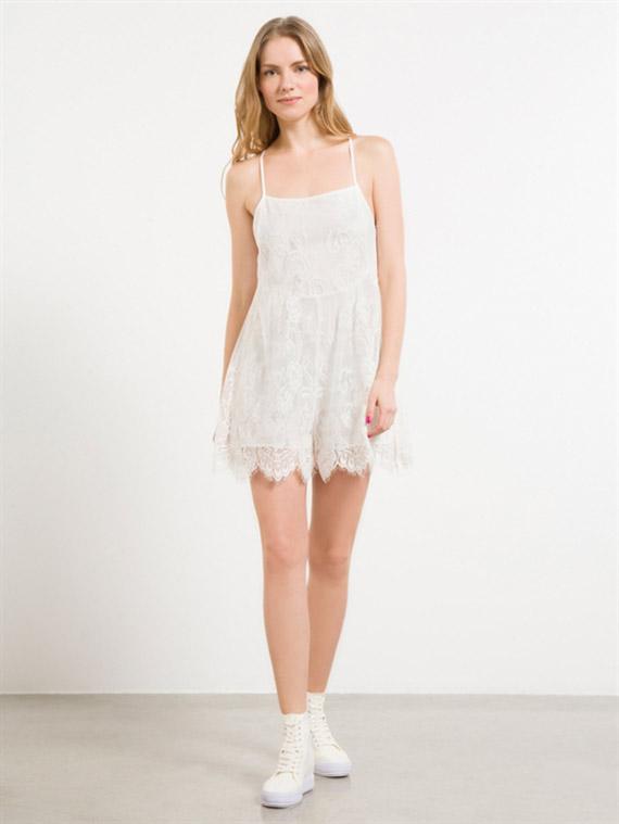 vestidos Fornarina casual camelie blanco