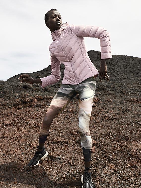 parka rosa leggings Oysho
