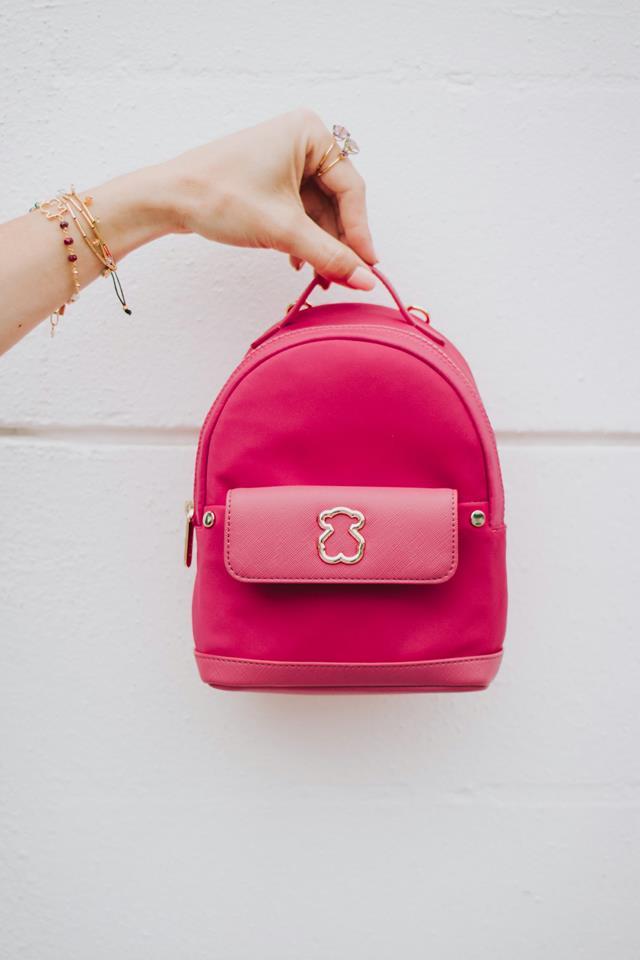 mochila tous rosa