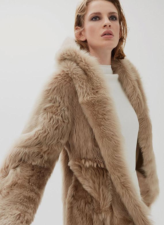 Uterqüe última colección piel abrigo doble faz