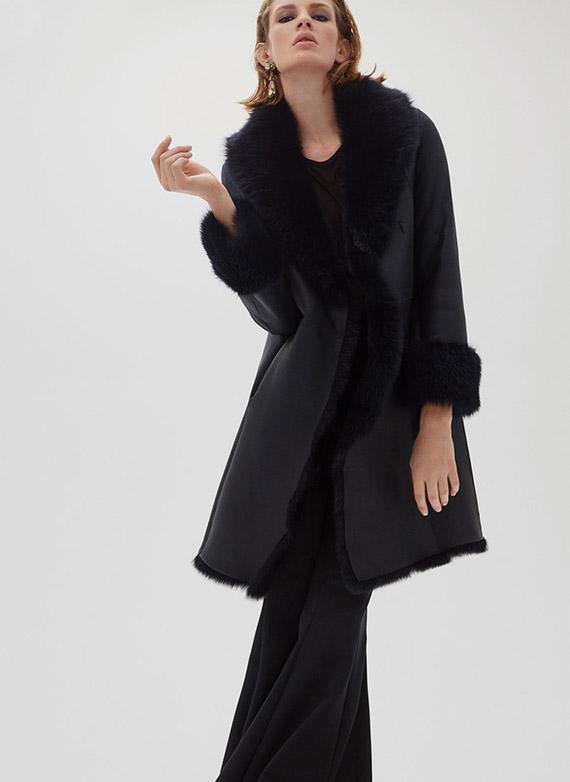Uterqüe última colección piel abrigo reversible