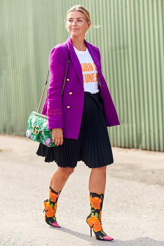 botines Balenciaga con falda midi