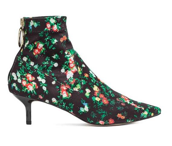 botines H&M print floral