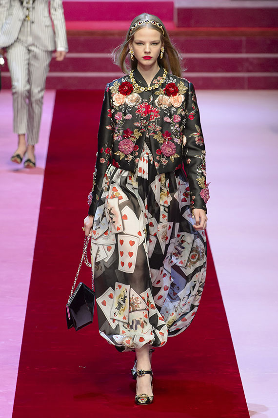 falda cartas corazones Dolce & Gabbana
