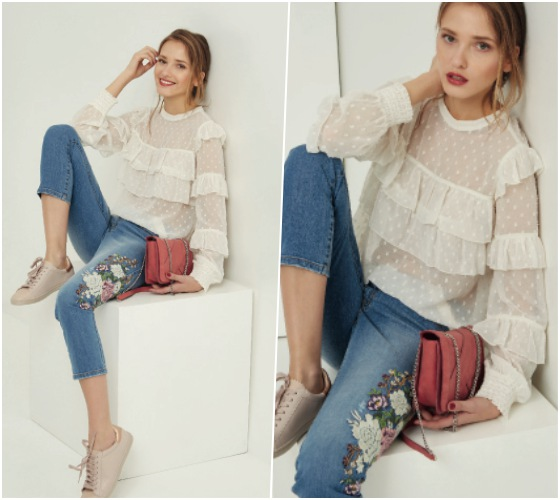 jeans bordados promod