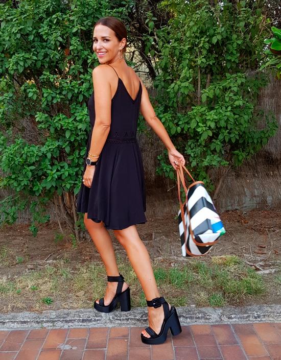 vestido negro paula echevarria