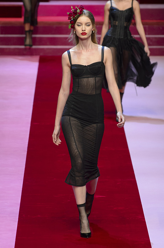 look total black Dolce & Gabbana