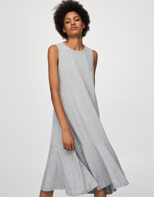 vestido bsico pull