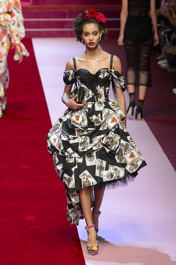 vestido cartas baraja Dolce & Gabbana
