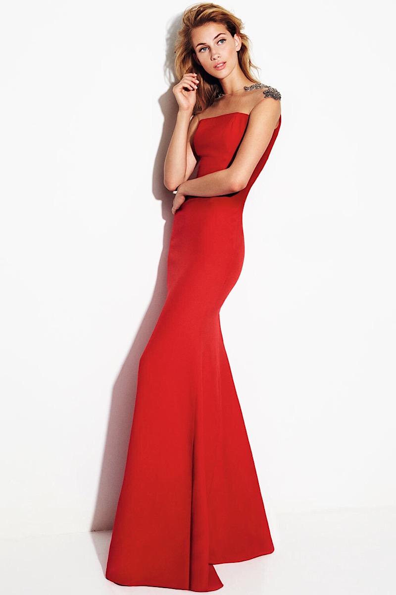 vestido rojo boda largo