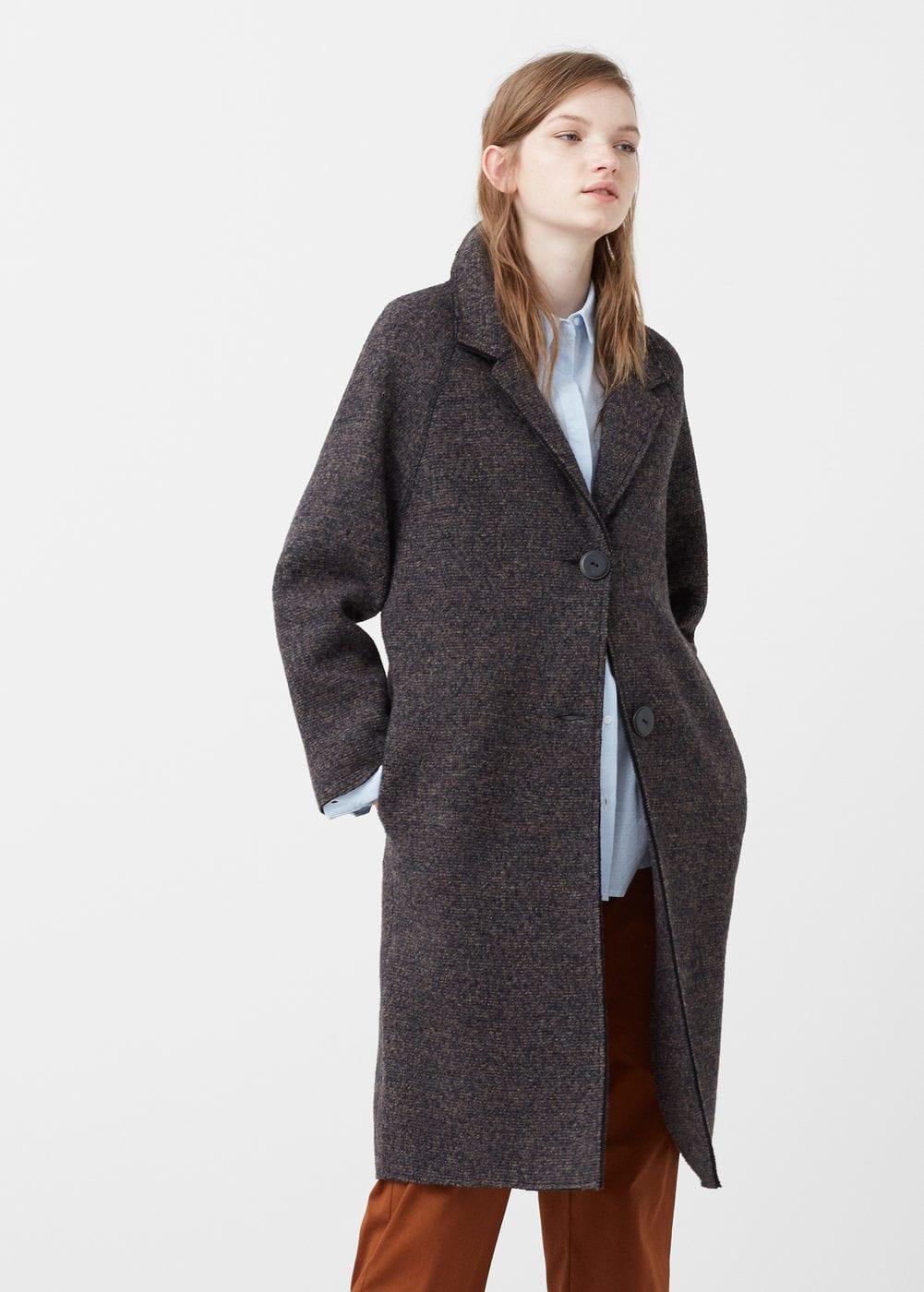 abrigo lana mango outlet