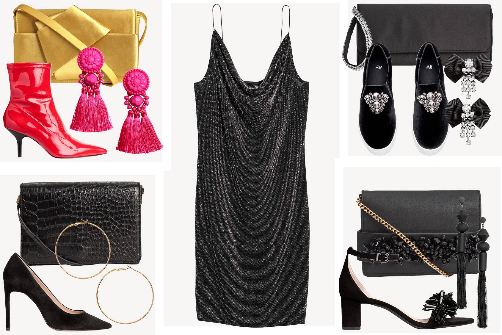 vestido negro complementos