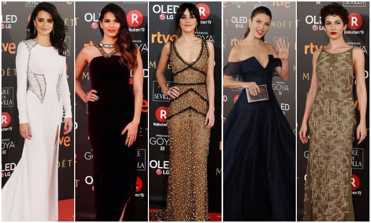vestidos famosas goya 2018