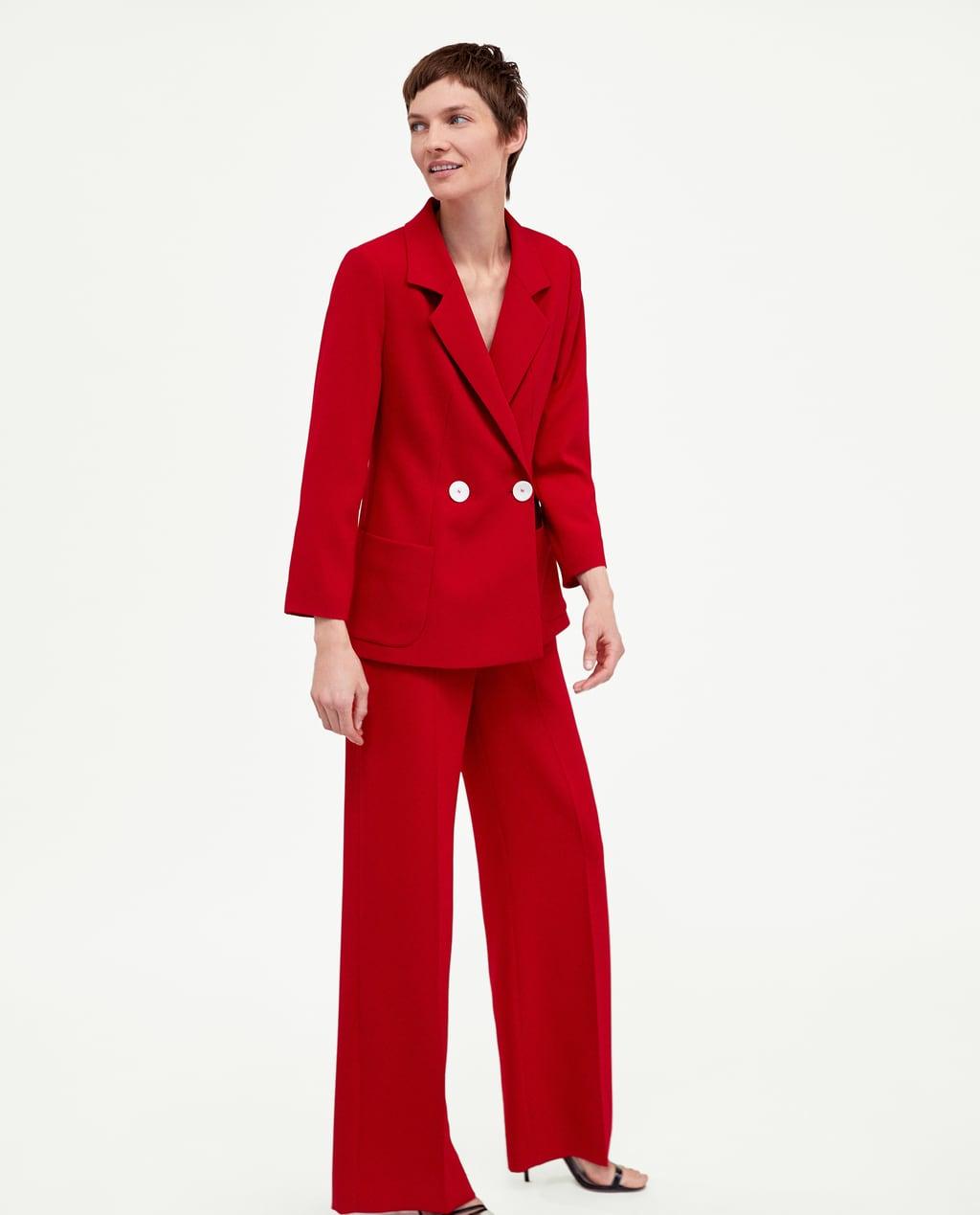 traje chaqueta rojo zara