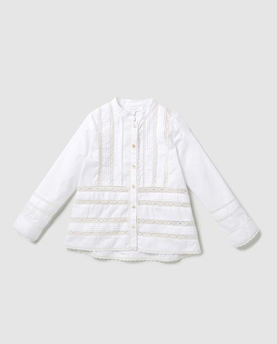 camisa blanca niña bass 10