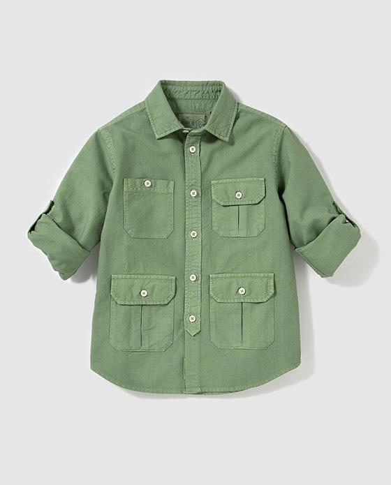 camisa verde niño bass 10