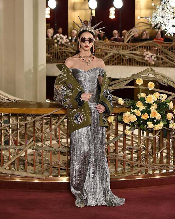 DG vestido tocado nueva york