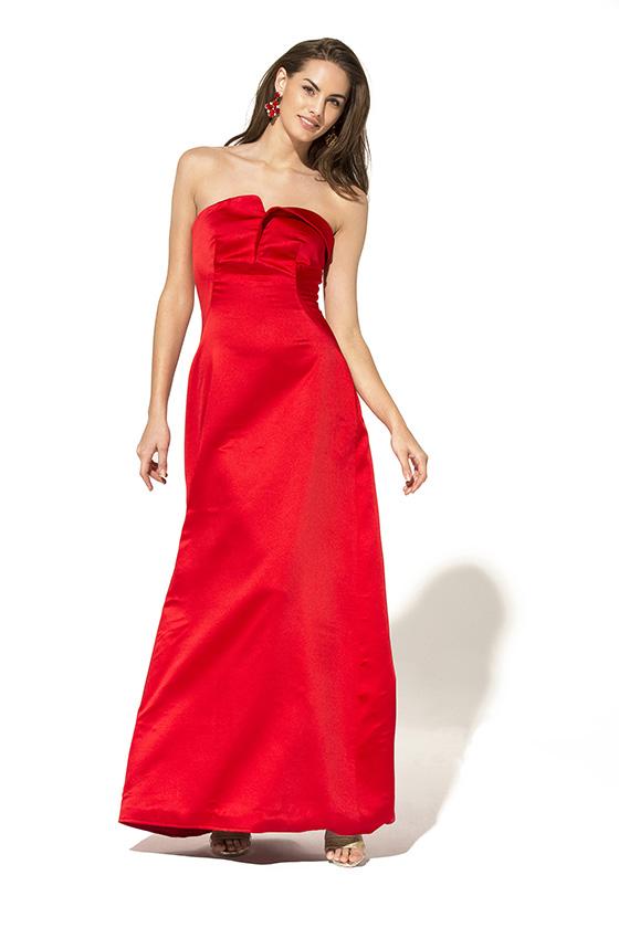 Teria Yabar vestido rojo lady