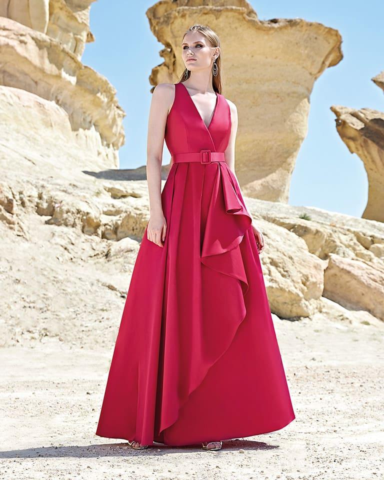 Vestido cinturón rojo - Sonia Peña Corte Inglés