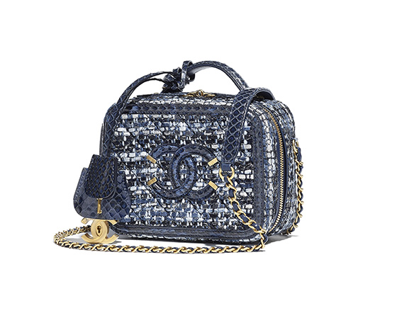 vanity case chanel bolso azul