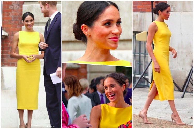 meghan markle vestido amarillo