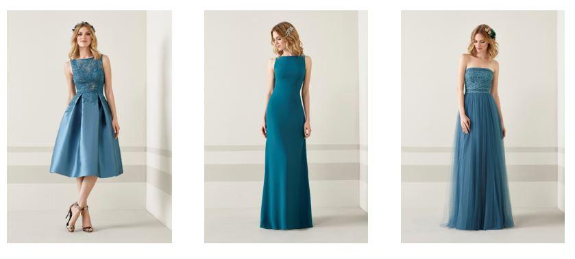 Vestidos fiesta Pronovias color azul