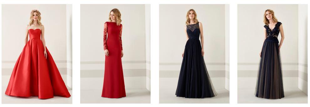 vestidos Rojos y Negros invitada boda