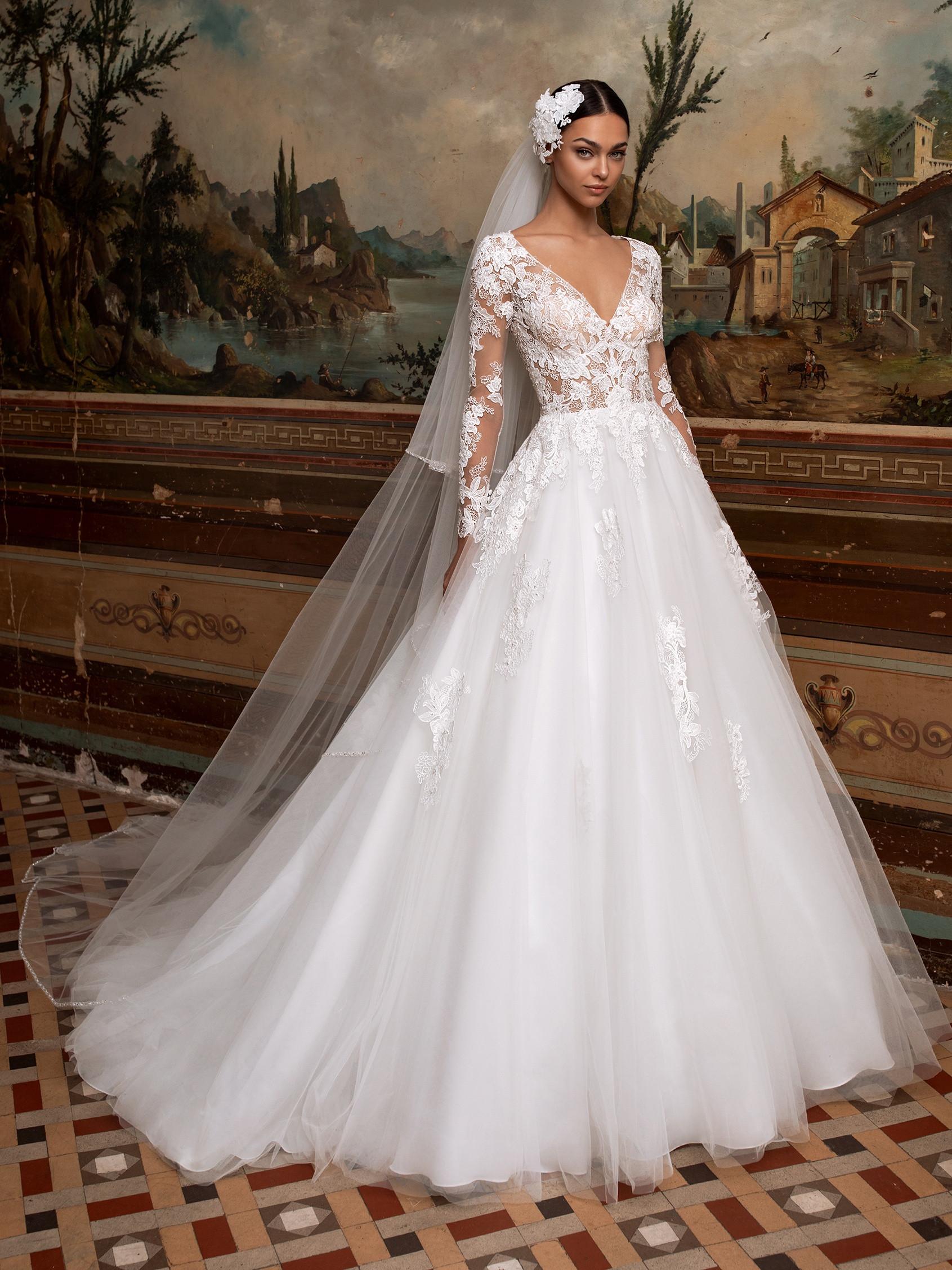 Vestido novia corte