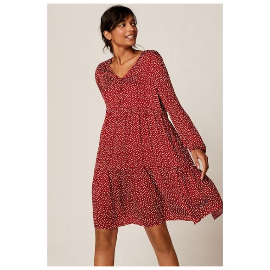 Vestido corto topito rojo