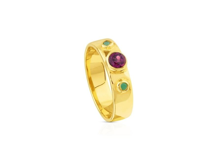 Anillo Tous Sky Power de plata vermeil en multicolor