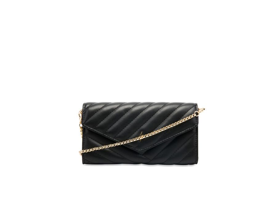 Sobre pequeño Paul's Boutique acolchado en negro con asa de cadena