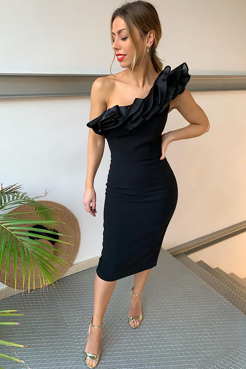 Vestido negro feria