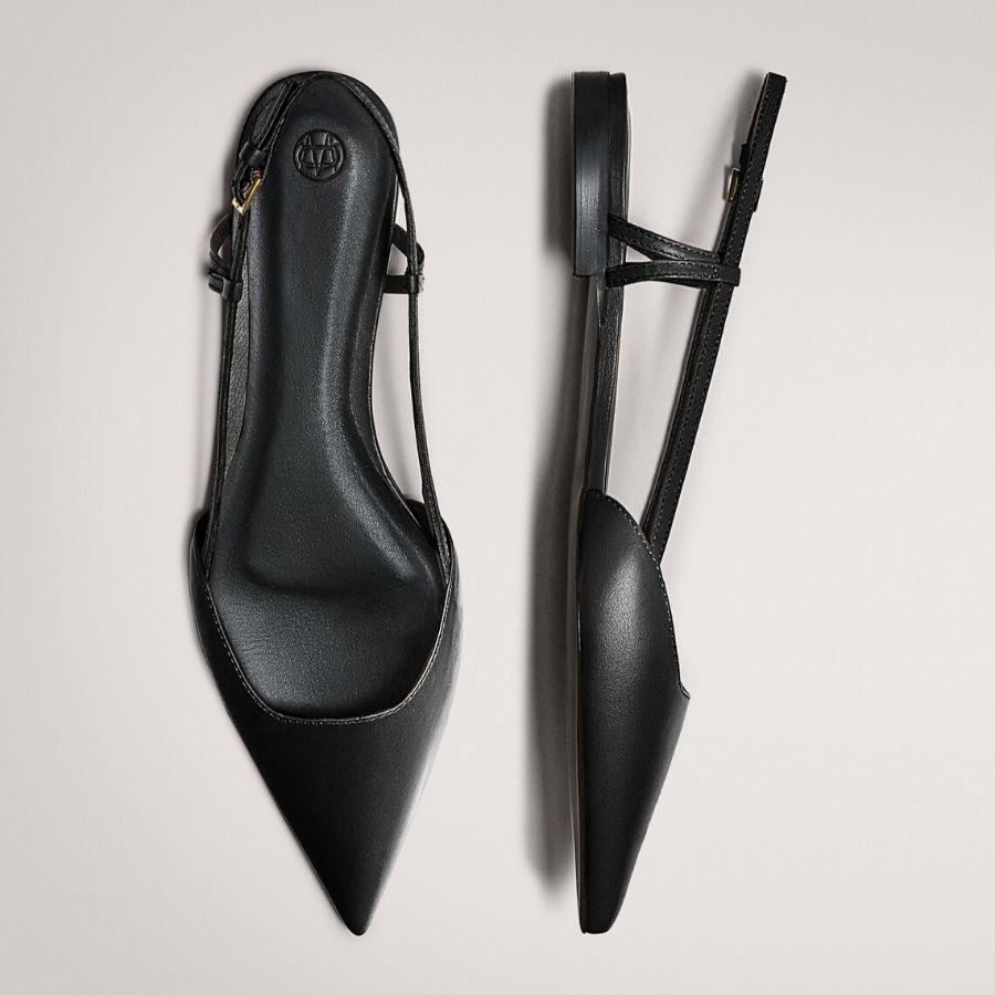 Zapato plano destalonado hebilla