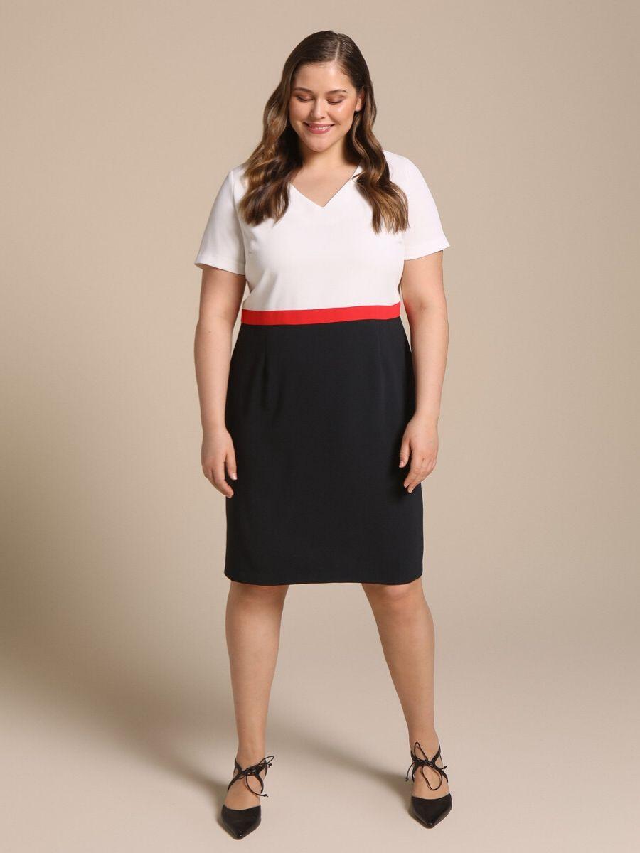 Vestido corto tricolor talla grande