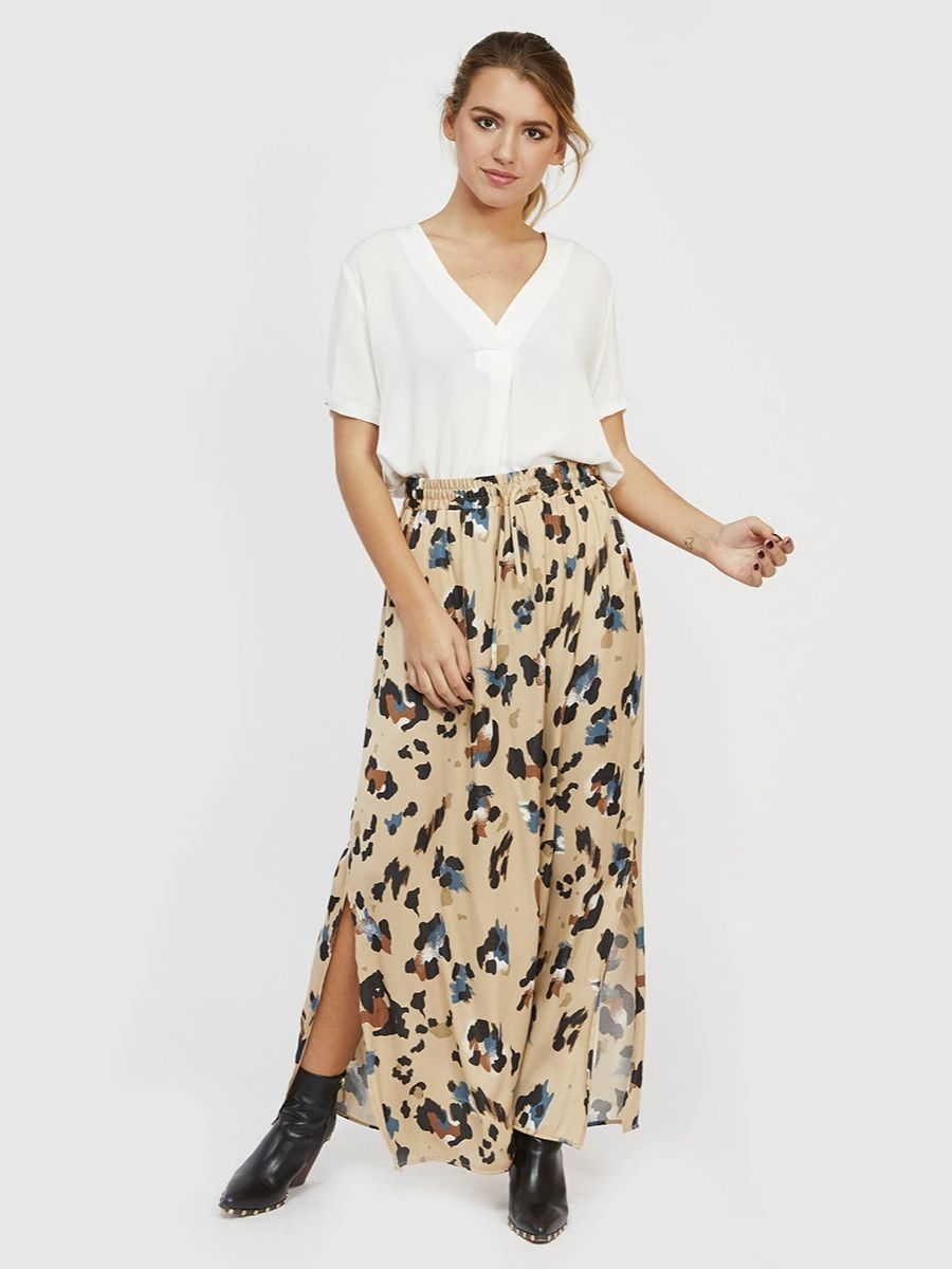 Falda larga estampada Vila