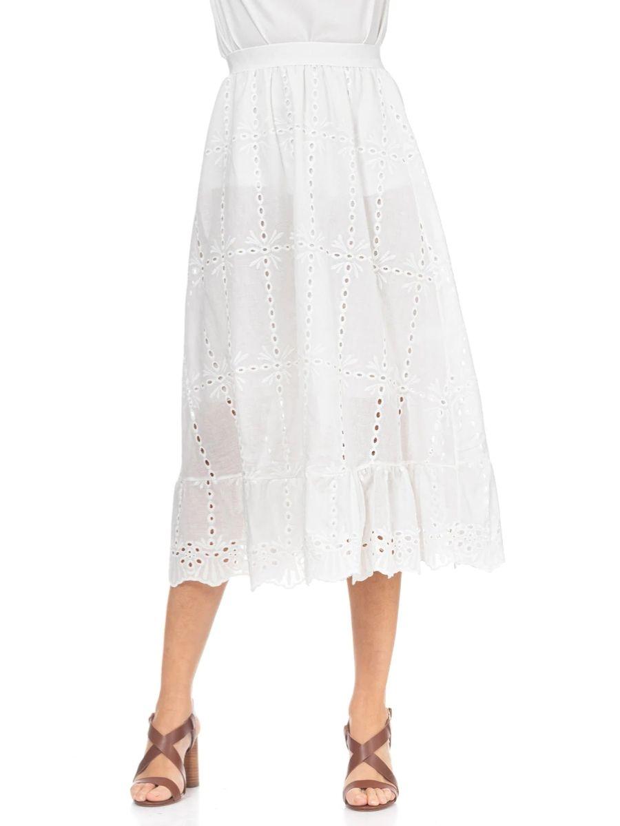 Falda larga de batista con cintura elástica Tantra