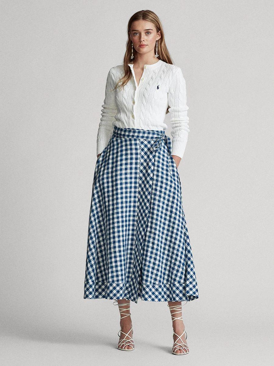 Falda larga de cuadros Polo Ralph Lauren