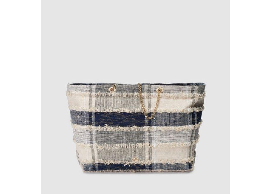 Shopping Gloria Ortiz Antilles de algodón en azul con desflecado