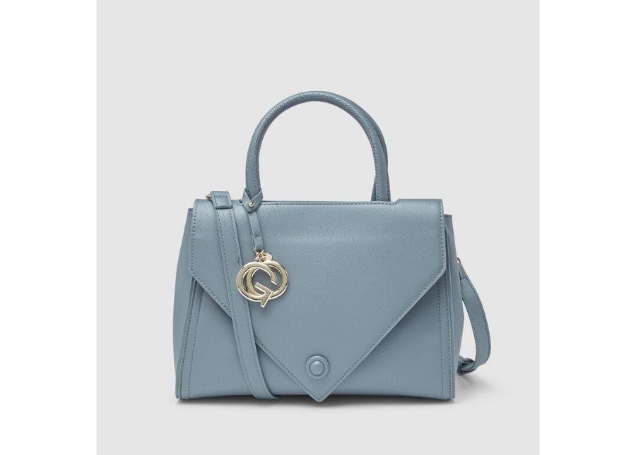 Bolso de mano Gloria Ortiz Bettina en azul con cremallera