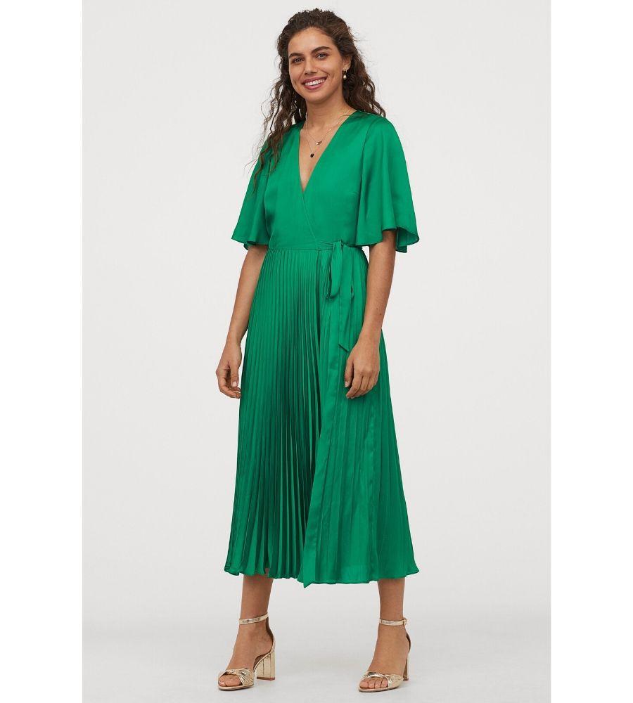 Vestido plisado de satén 59,99 €