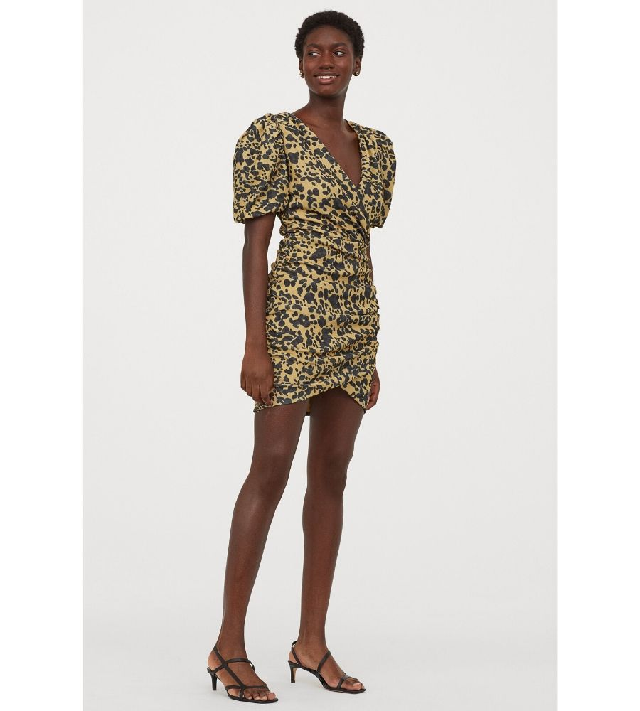 Vestido cruzado manga puffy 39,99 €